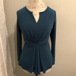 Daisy Fuentes Relaxed Peplum Top